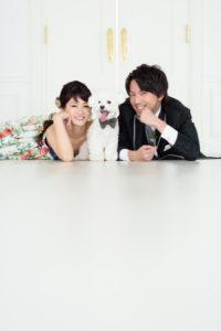 洋装スタジオ(カラードレス)撮影 ペット「フォトウエディング」東京 写真だけの結婚式