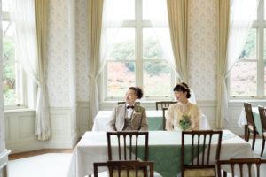 洋館(旧古河邸)撮影「フォトウエディング」東京 写真だけの結婚式