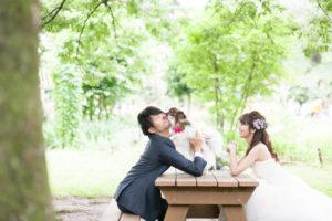 ロケーション(代々木公園)ペットと撮影「フォトウエディング・前撮り」東京 写真だけの結婚式
